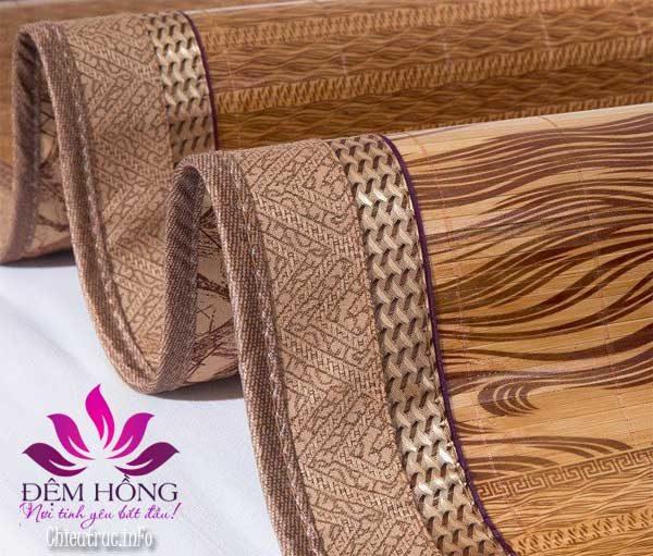 Chiếu vân gỗ Thái chắc chắn bền đẹp