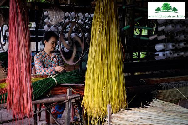Cơ sở đan chiếu cói truyền thống Việt Nam
